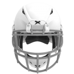 White helmet shell, grey facemask XRS  2 2S