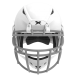 White helmet shell, grey facemask XRS  2 2X