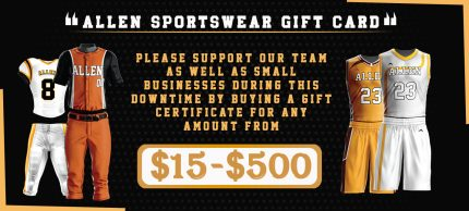 Allen Sportswear Gift Card You Can Ask Your Supporters to Purchase