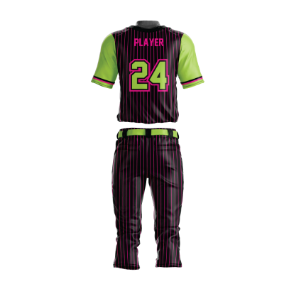 Custom Sublimated Baseball Uniform AFTERSHOCK-back view