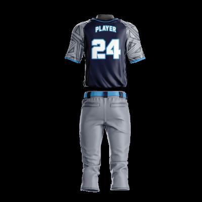 Custom Sublimated Baseball Uniform ANGELS-back view