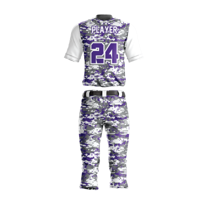 BASEBALL UNIFORM SUBLIMATED DIGICAMO BACK