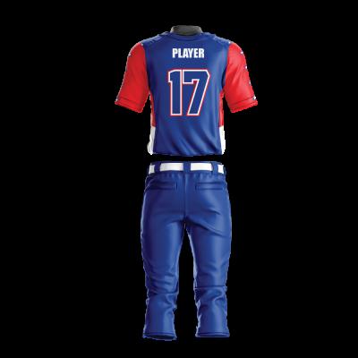 Custom Sublimated Baseball Uniform GULF-back view