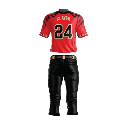 Custom Sublimated Baseball Uniform HAWK-back view