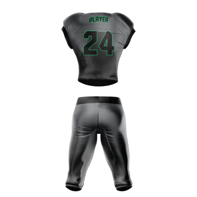 Custom Sublimated Football Uniform CHARLOTTE back view