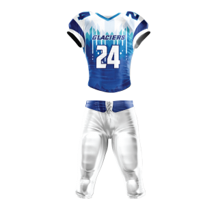 Image for Football Uniform Sublimated Glaciers