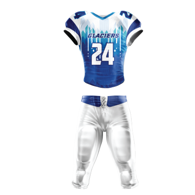 Custom Sublimated Football Uniform GLACIERS