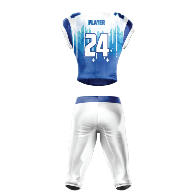 FOOTBALL UNIFORM SUBLIMATED GLACIERS BACK