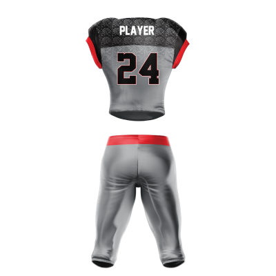 Custom Sublimated Football Uniform HAWKEYE back view