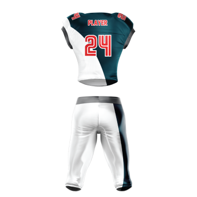Custom Sublimated Football Uniform KNIGHTS back view
