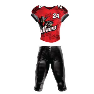 Image for Football Uniform Sublimated Outlaws