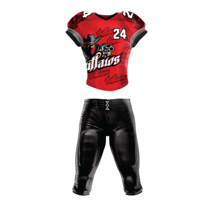 FOOTBALL UNIFORM SUBLIMATED OUTLAWS