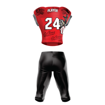 Custom Sublimated Football Uniform OUTLAWS back view