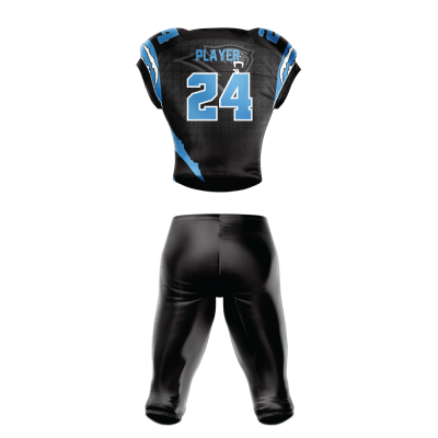 FOOTBALL UNIFORM SUBLIMATED PANTHERS BACK
