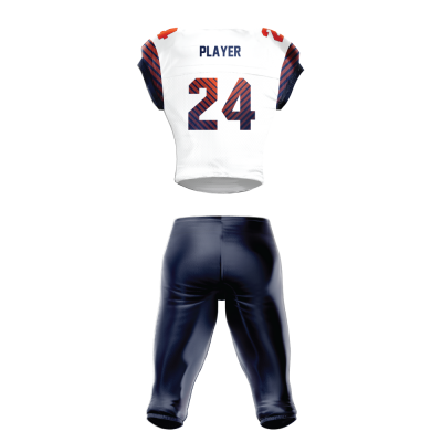 Custom Sublimated Football Uniform PARALLEL back view