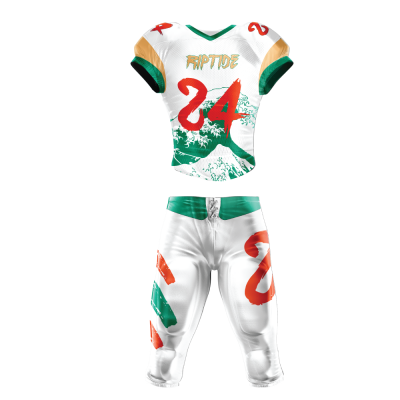 Custom Sublimated Football Uniform RIPTIDE