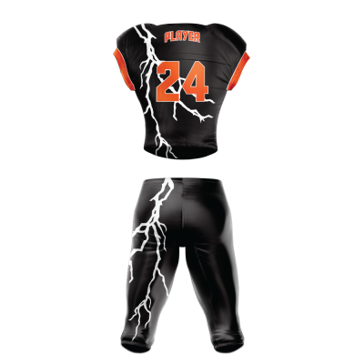 Custom Sublimated Football Uniform STORM back view