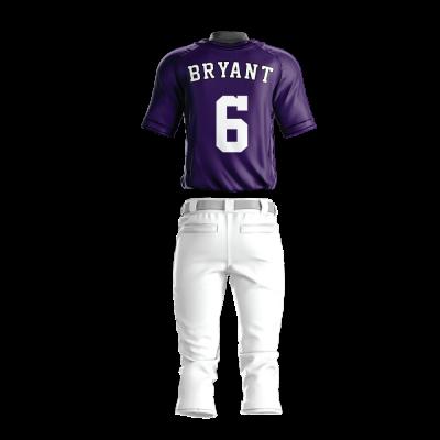 Custom Sublimated Baseball Uniform 202-back view