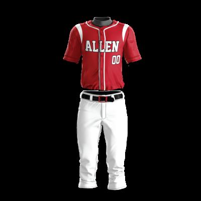 Custom Baseball Uniform Pro Tackle Twill or Sewn On 204