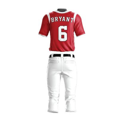 Custom Baseball Uniform Pro Tackle Twill or Sewn On 204-back view