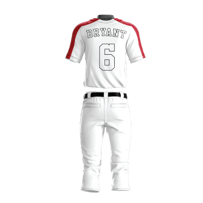 Custom Baseball Uniform Pro Tackle Twill or Sewn On 205-back view