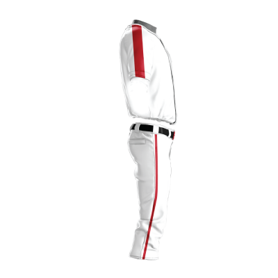 Custom Baseball Uniform Pro Tackle Twill or Sewn On 205-side view
