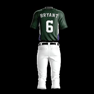 Custom Baseball Uniform Pro Tackle Twill or Sewn On 207-back view