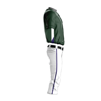 Custom Baseball Uniform Pro Tackle Twill or Sewn On 207-side view