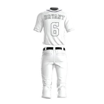 Custom Baseball Uniform Pro Tackle Twill or Sewn On 208-back view