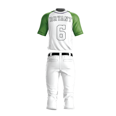 Custom Baseball Uniform Pro Tackle Twill or Sewn On 209-back view