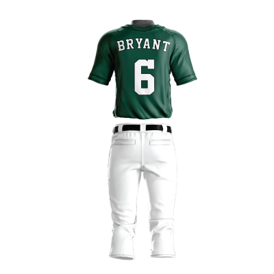 Custom Baseball Uniform Pro Tackle Twill or Sewn On 210-back view