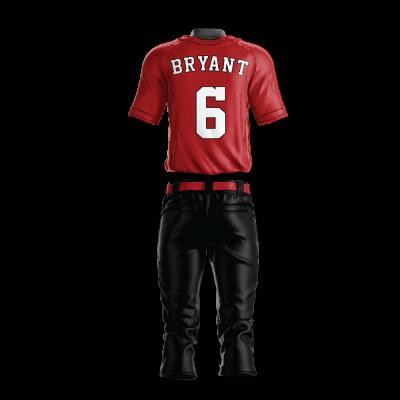 Custom Baseball Uniform Pro Tackle Twill or Sewn On 212-back view