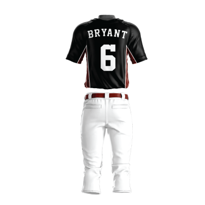 Custom Baseball Uniform Pro Tackle Twill or Sewn On 214-back view