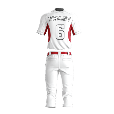 Custom Baseball Uniform Pro Tackle Twill or Sewn On 215-back view
