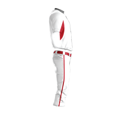 Custom Baseball Uniform Pro Tackle Twill or Sewn On 215-side view