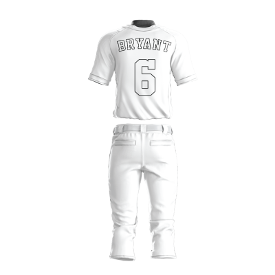 Custom Baseball Uniform Pro Tackle Twill or Sewn On 216-back view