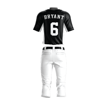 Custom Baseball Uniform Pro Tackle Twill or Sewn On 219-back view