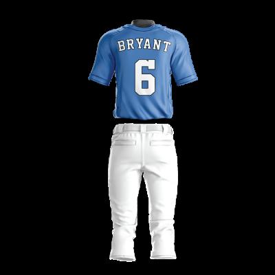Custom Baseball Uniform Pro Tackle Twill or Sewn On 220-back view