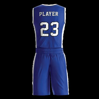 Custom basketball uniform sublimated 500 back view