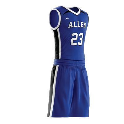 Custom basketball uniform sublimated 500 side view