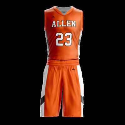 Custom basketball uniform sublimated 501