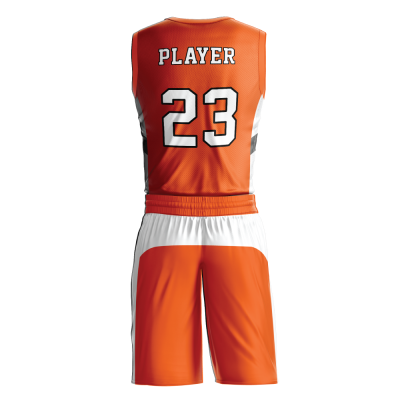 Custom basketball uniform sublimated 501 back view