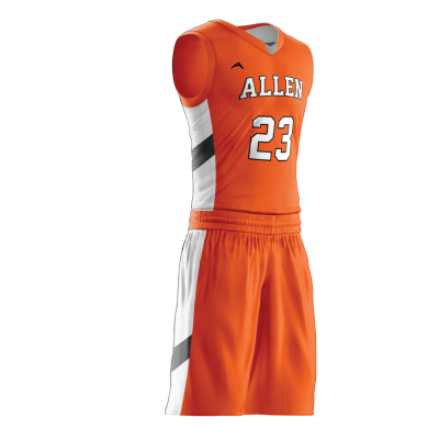 Custom basketball uniform sublimated 501 side view
