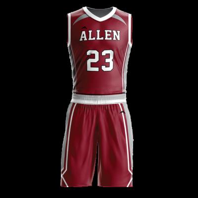 Custom basketball uniform sublimated 502