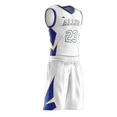 Custom basketball uniform sublimated 502 side view