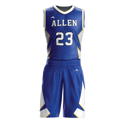 Custom basketball uniform sublimated 504