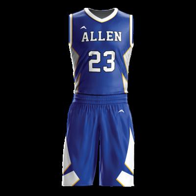 Custom basketball uniform sublimated 504