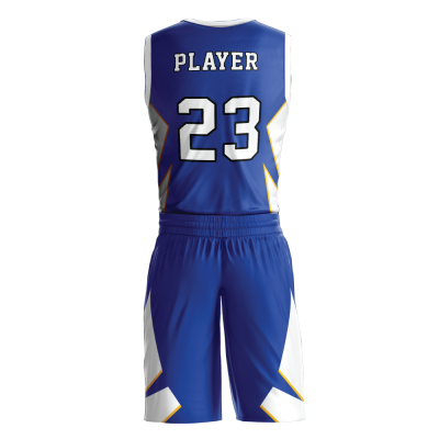 Custom basketball uniform sublimated 504 back view