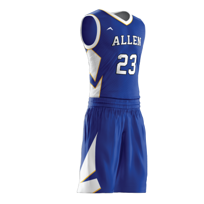 Custom basketball uniform sublimated 504 side view