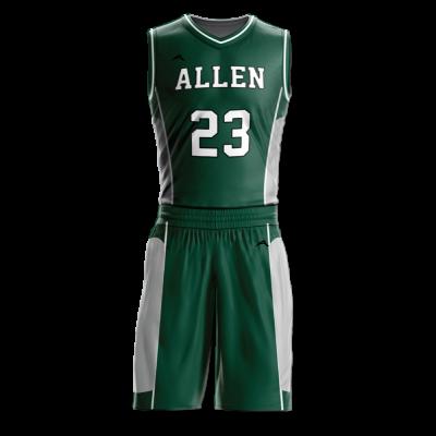 Custom basketball uniform sublimated 505